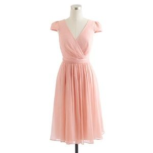 J. Crew Mirabelle Dress In Silk Blush Dress